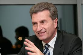 European Union Commissar Günther Oettinger